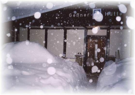 Huette Schnee